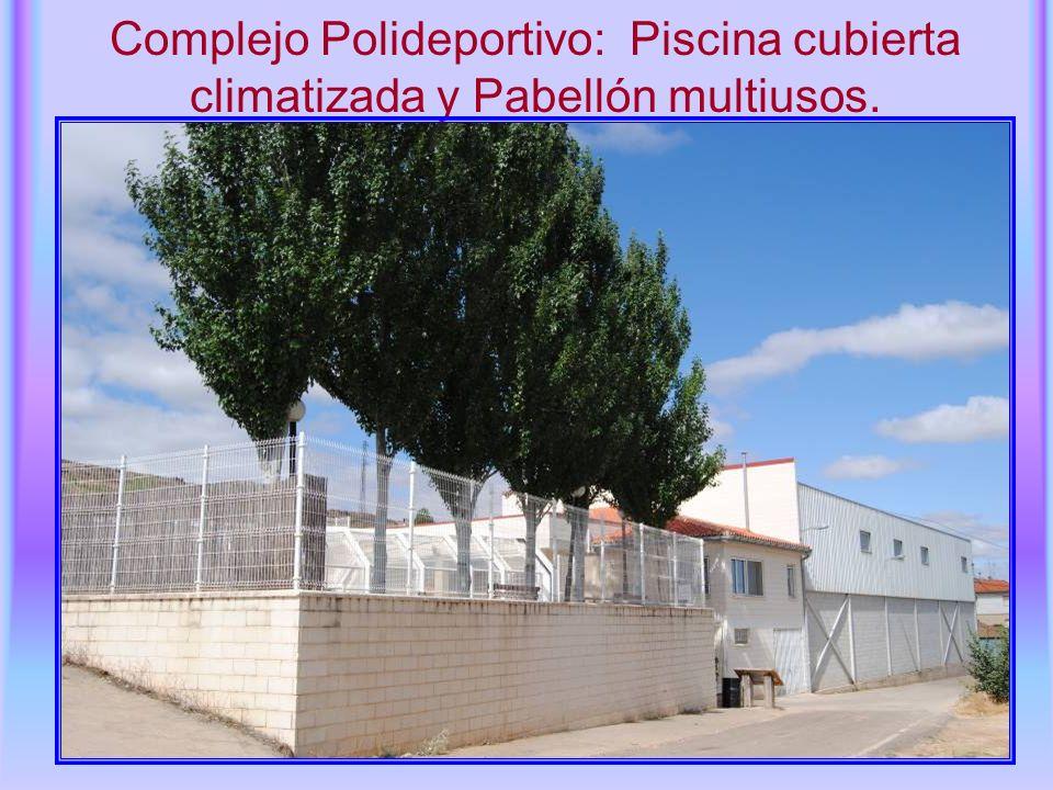Complejo Polideportivo: Piscina cubierta climatizada y Pabellón multiusos.