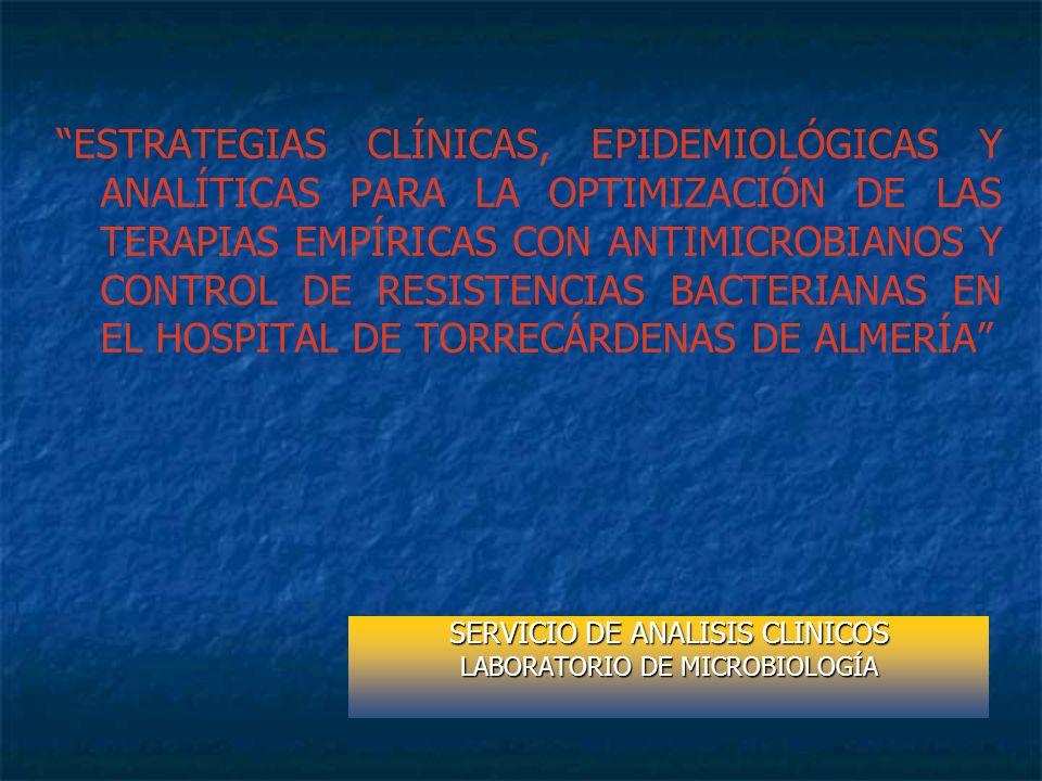 SERVICIO DE ANALISIS CLINICOS LABORATORIO DE MICROBIOLOGÍA