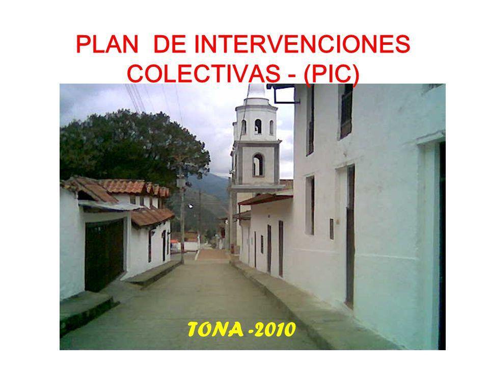 PLAN DE INTERVENCIONES COLECTIVAS - (PIC)