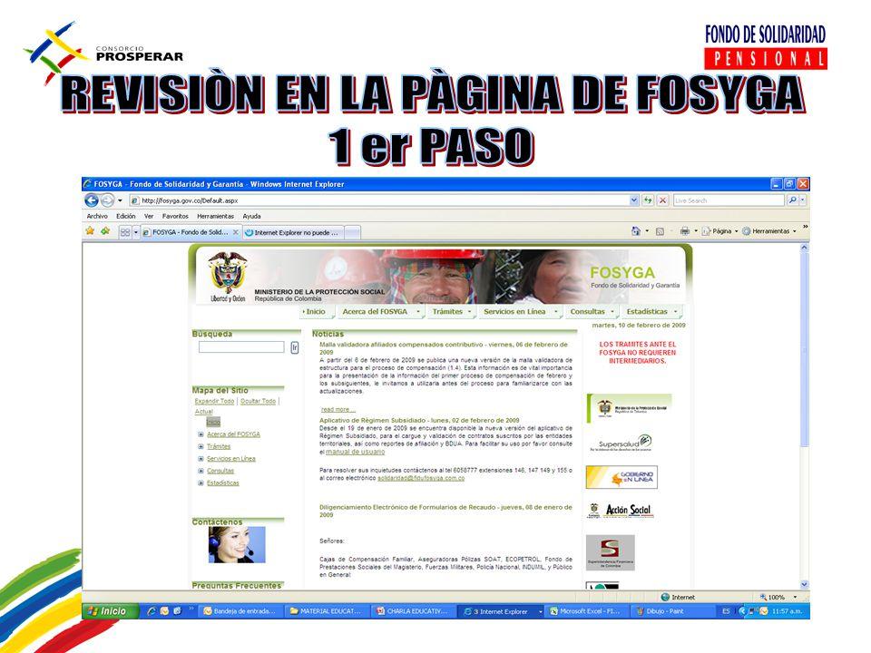REVISIÒN EN LA PÀGINA DE FOSYGA
