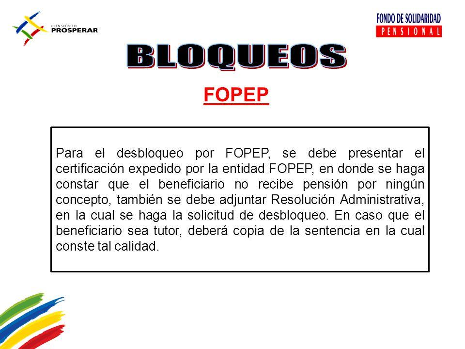 BLOQUEOS FOPEP.