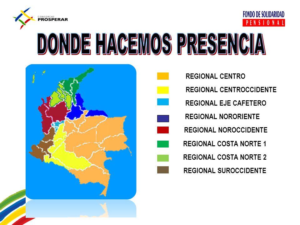 REGIONAL CENTROCCIDENTE REGIONAL NOROCCIDENTE REGIONAL SUROCCIDENTE