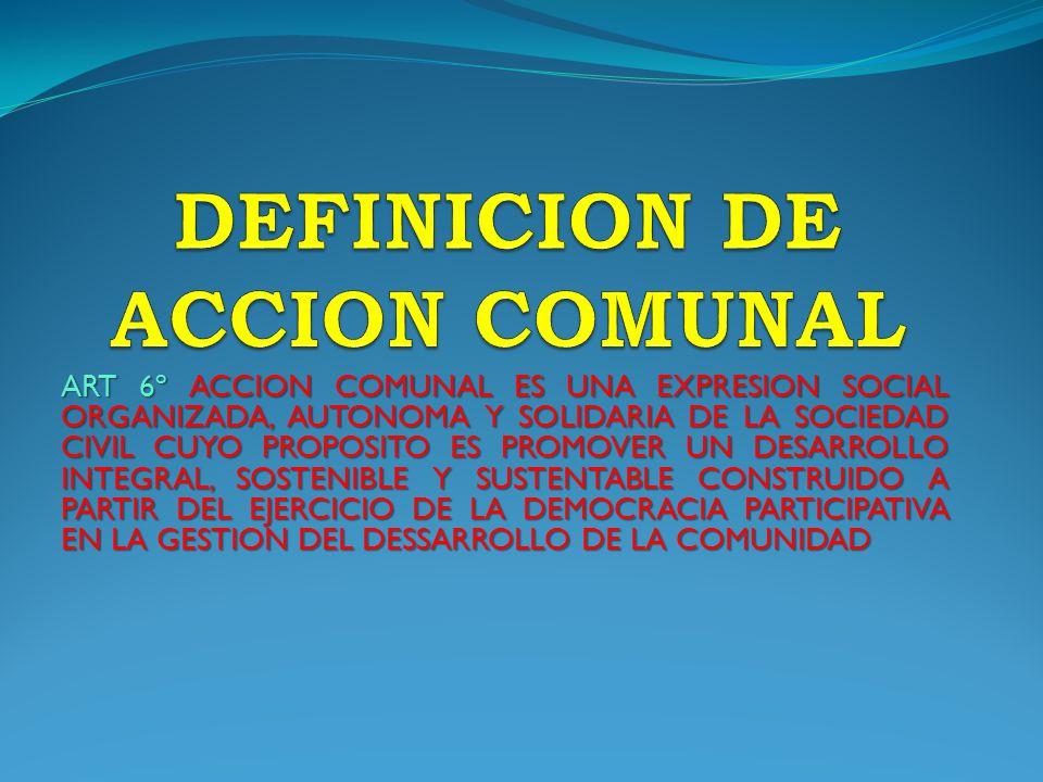 DEFINICION DE ACCION COMUNAL