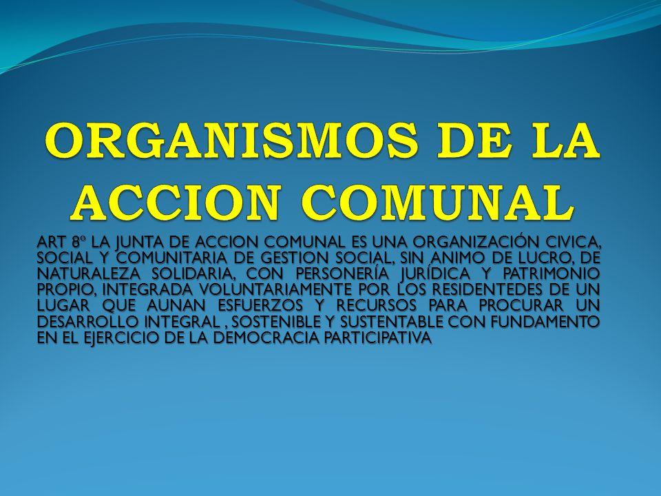 ORGANISMOS DE LA ACCION COMUNAL