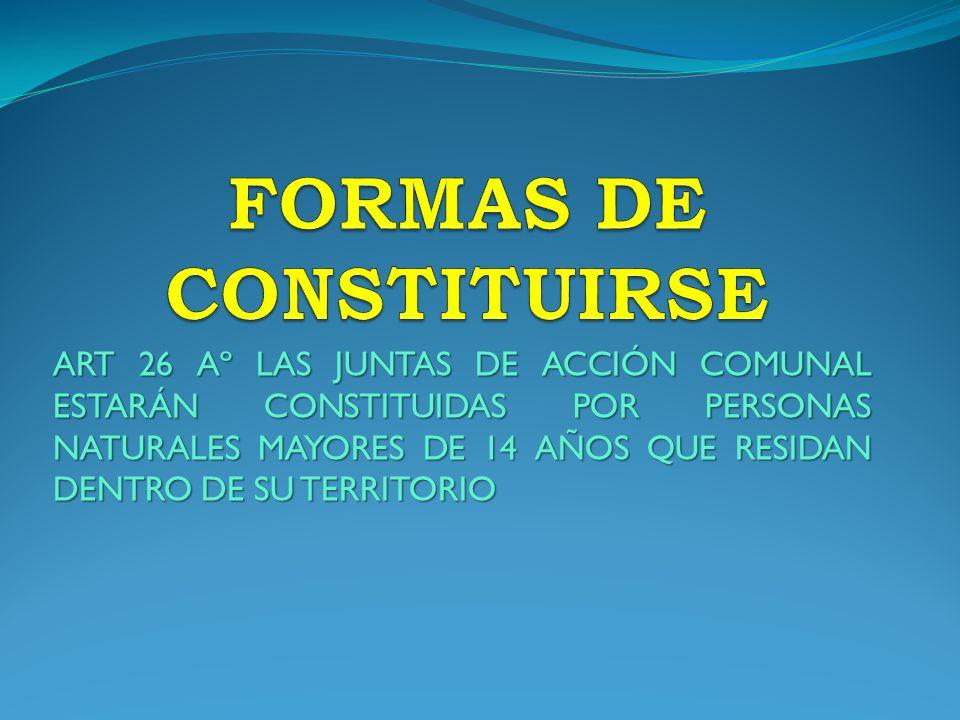 FORMAS DE CONSTITUIRSE