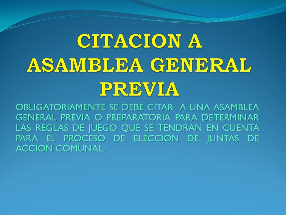 CITACION A ASAMBLEA GENERAL PREVIA