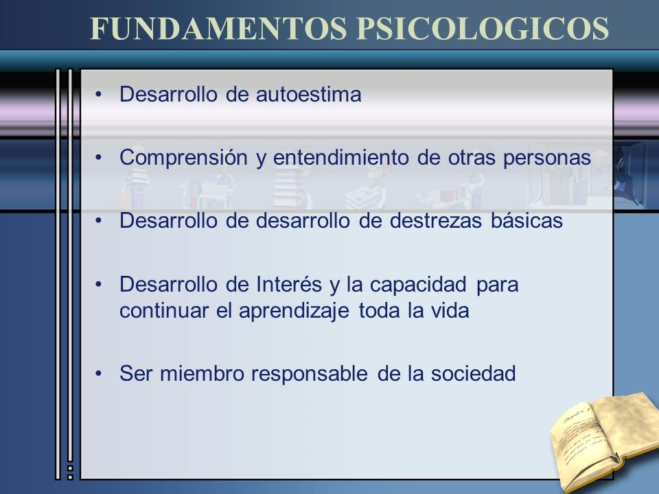 FUNDAMENTOS PSICOLOGICOS