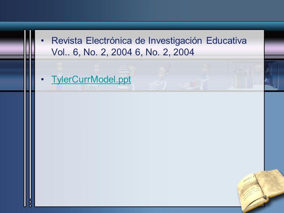 Revista Electrónica de Investigación Educativa Vol. 6, No