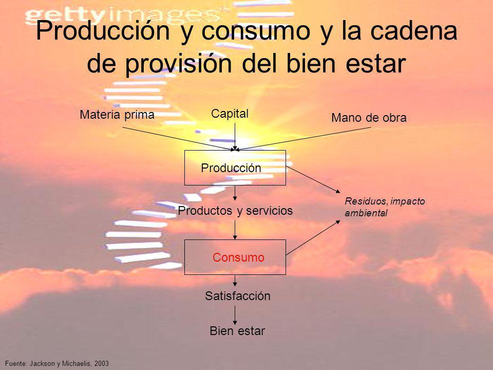Producción y consumo y la cadena de provisión del bien estar