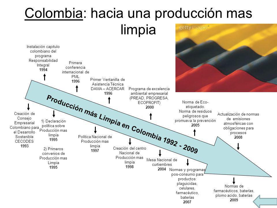 Colombia: hacia una producción mas limpia