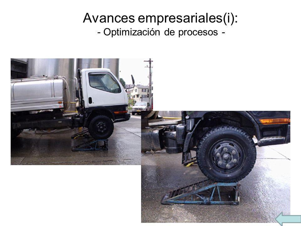 Avances empresariales(i): - Optimización de procesos -