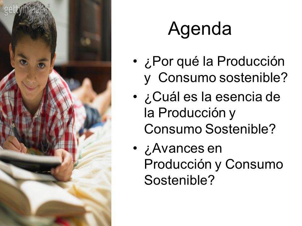 Agenda ¿Por qué la Producción y Consumo sostenible