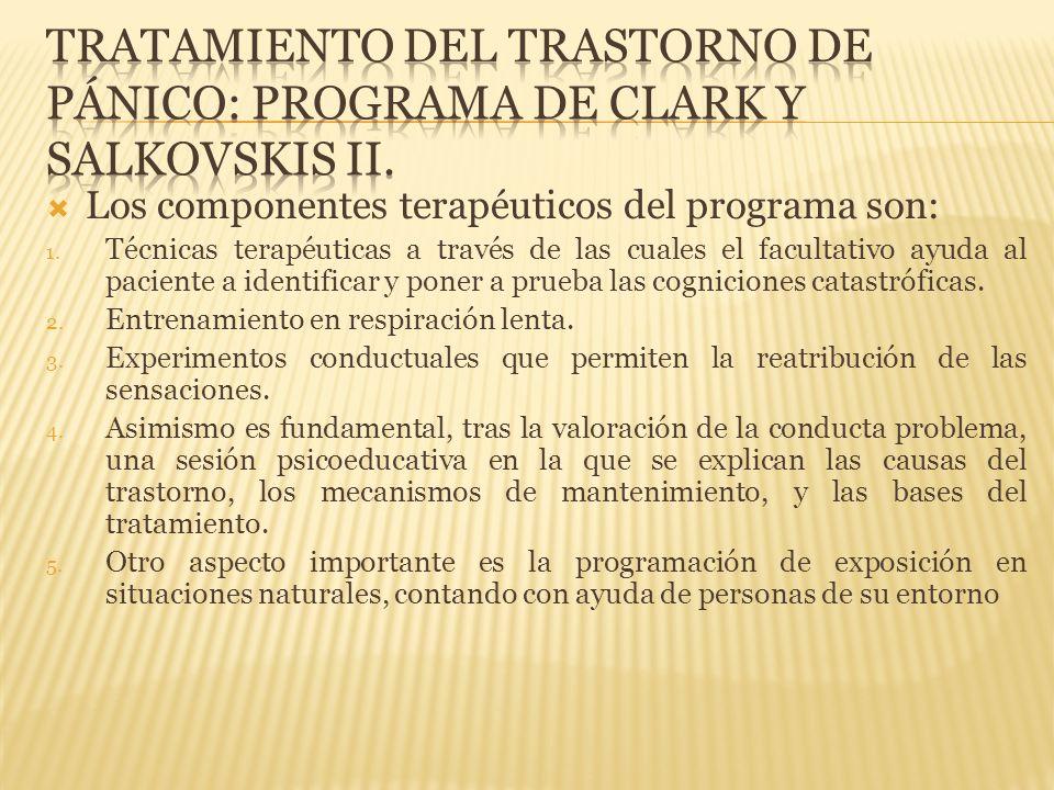 Tratamiento del trastorno de pánico: Programa de clark y salkovskis II.