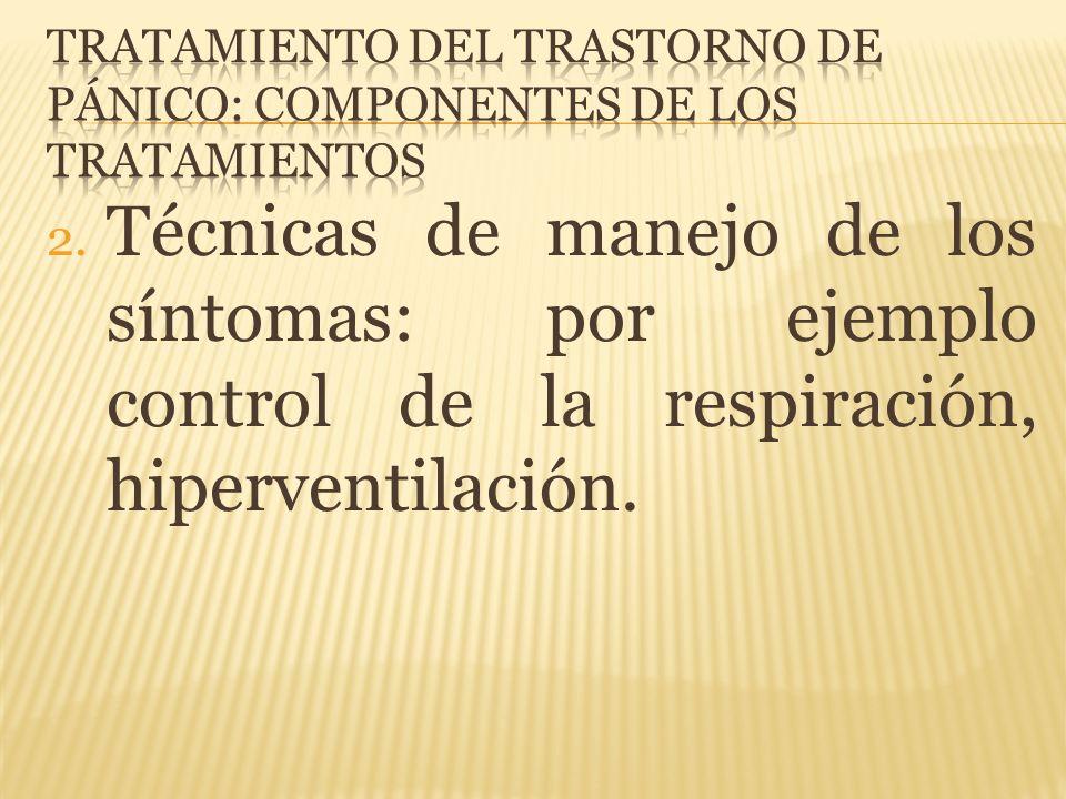 Tratamiento del trastorno de pánico: componentes de los tratamientos
