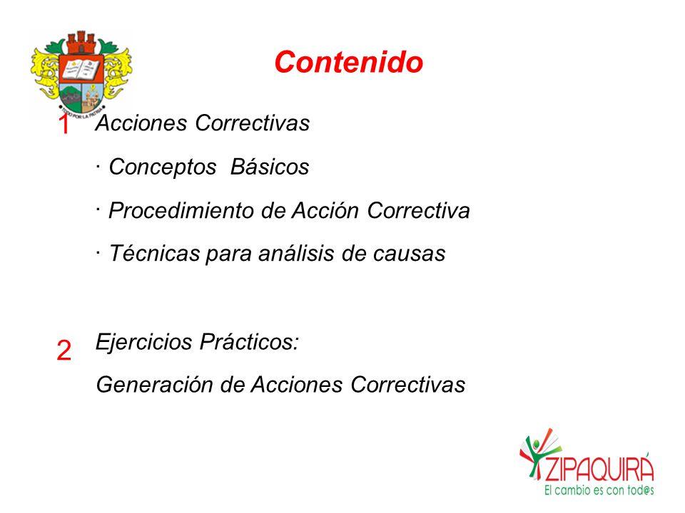 Contenido 1 2 Acciones Correctivas · Conceptos Básicos