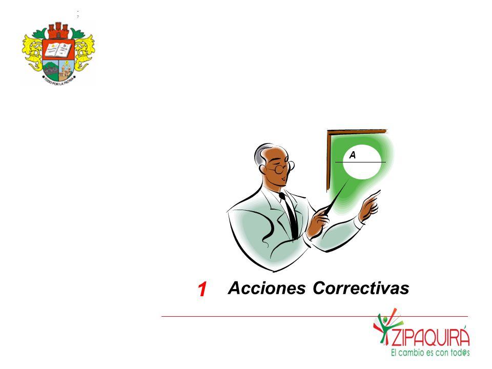 ; A 1 Acciones Correctivas