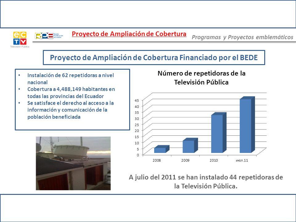Proyecto de Ampliación de Cobertura Financiado por el BEDE
