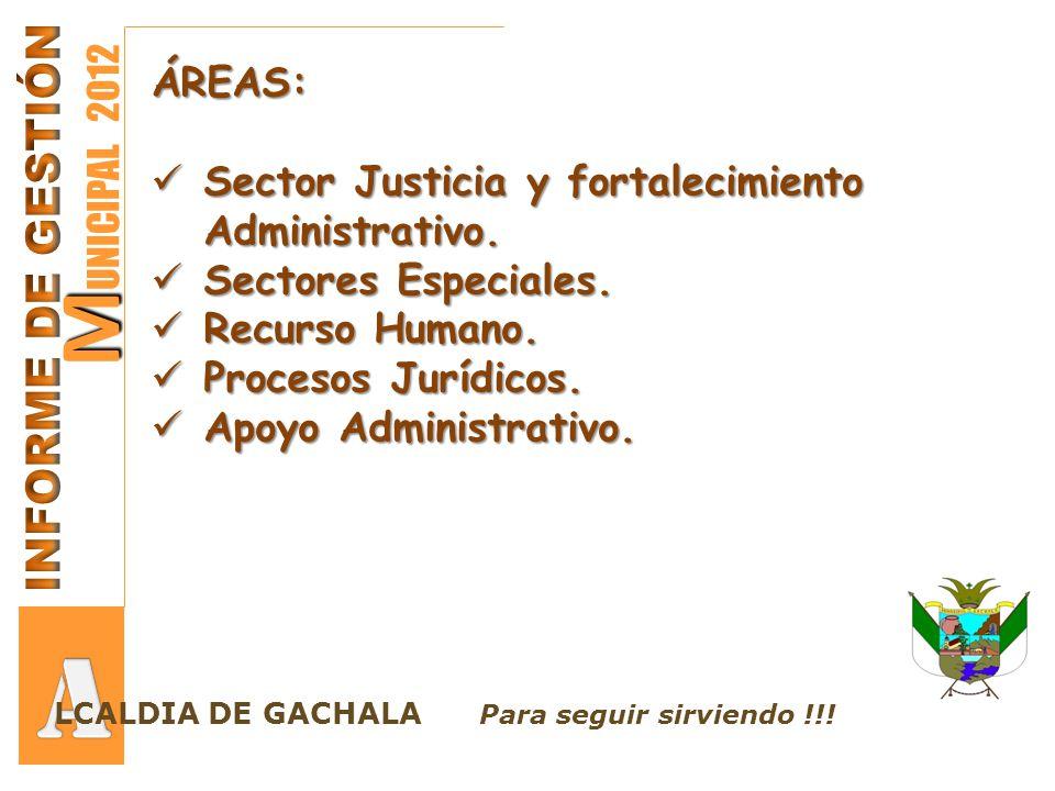 A MUNICIPAL 2012 INFORME DE GESTIÓN ÁREAS: