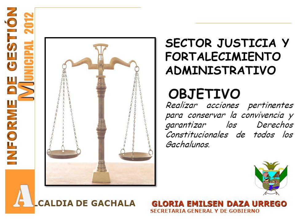 A MUNICIPAL 2012 INFORME DE GESTIÓN OBJETIVO