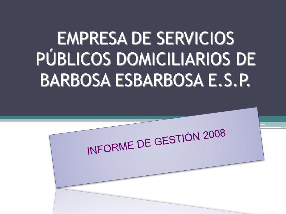 EMPRESA DE SERVICIOS PÚBLICOS DOMICILIARIOS DE BARBOSA ESBARBOSA E. S