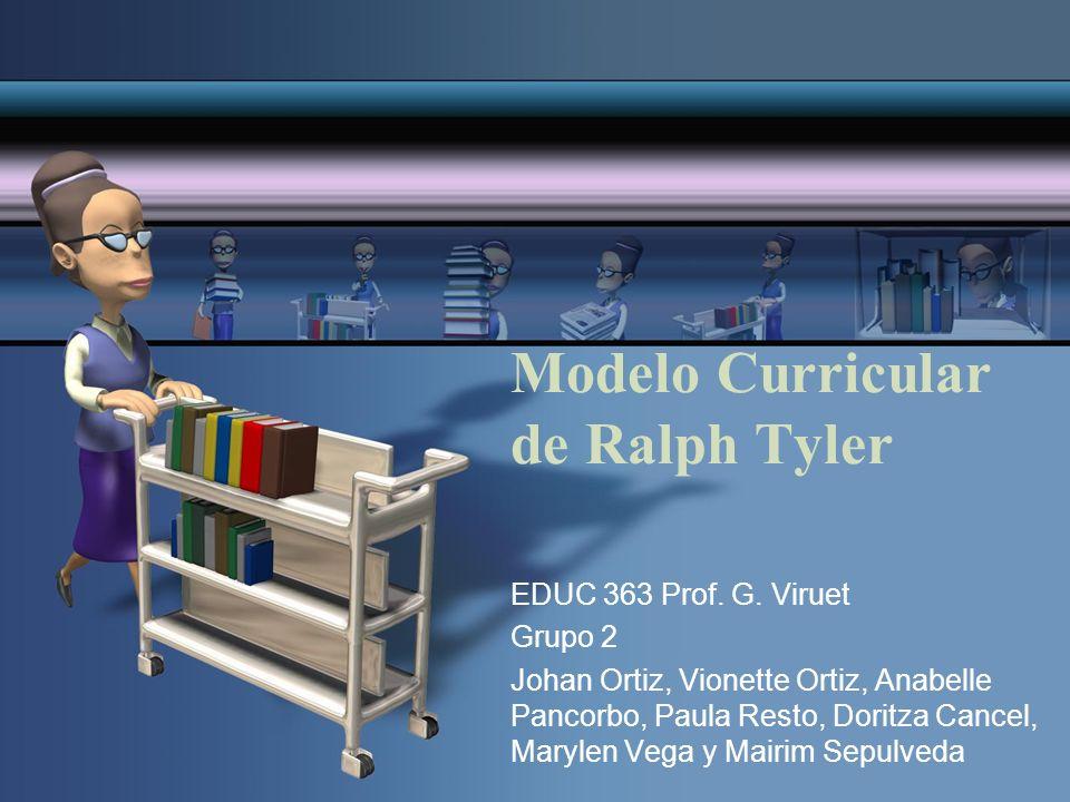 Modelo Curricular de Ralph Tyler