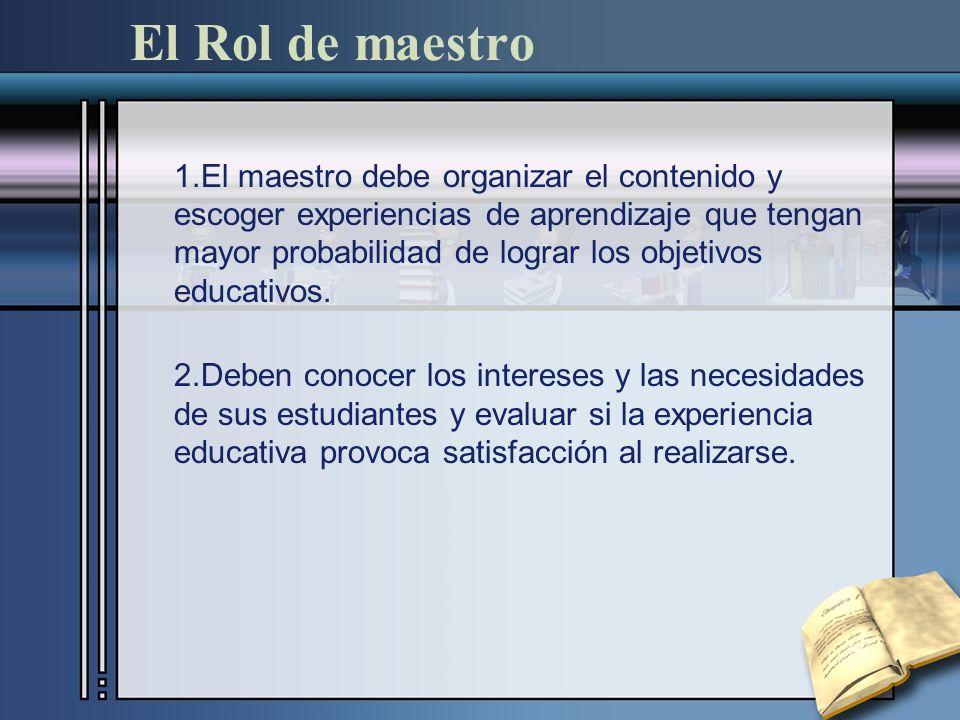 El Rol de maestro