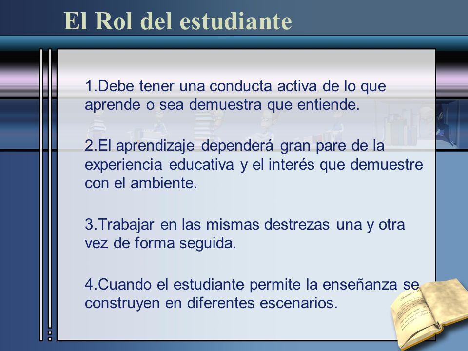 El Rol del estudiante