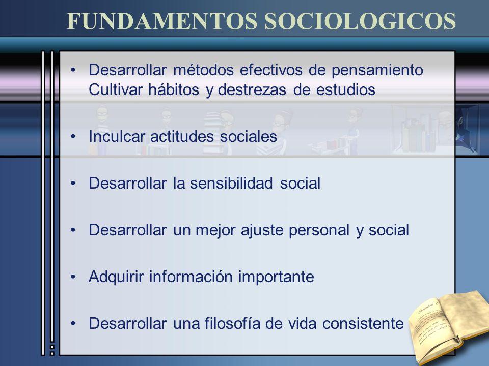 FUNDAMENTOS SOCIOLOGICOS