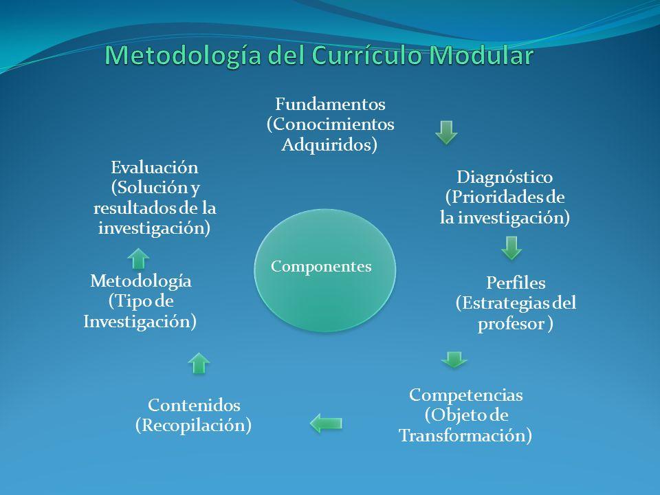 Metodología del Currículo Modular