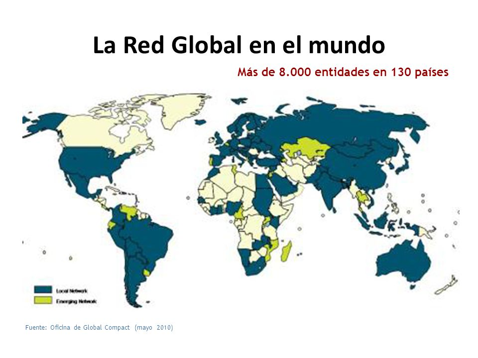 La Red Global en el mundo