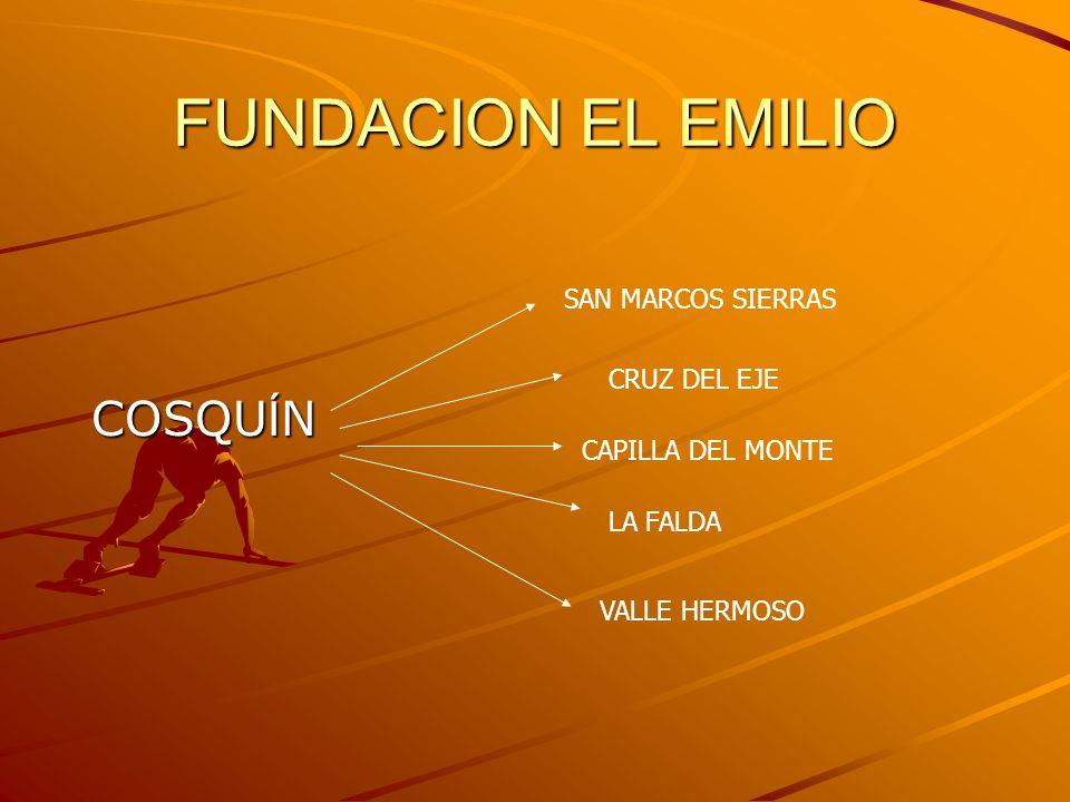 FUNDACION EL EMILIO COSQUÍN SAN MARCOS SIERRAS CRUZ DEL EJE