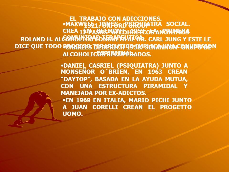EL TRABAJO CON ADICCIONES. 12 PASOS- ALCOHOLICOS ANONIMOS