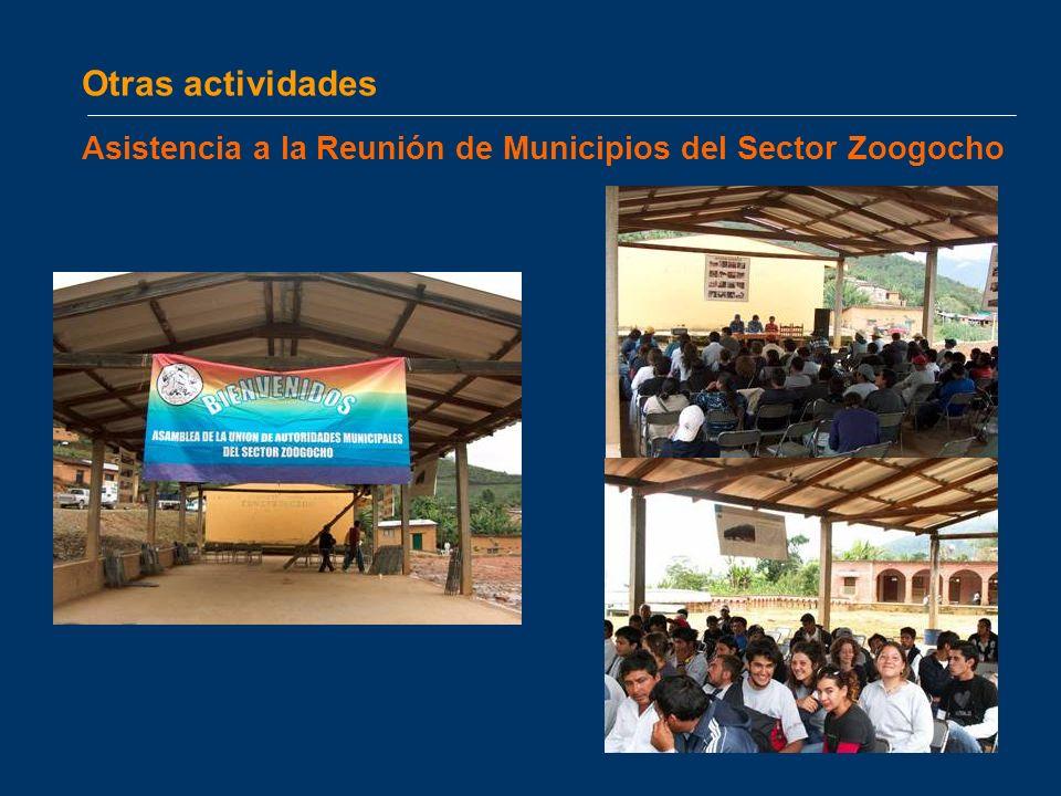 Otras actividades Asistencia a la Reunión de Municipios del Sector Zoogocho