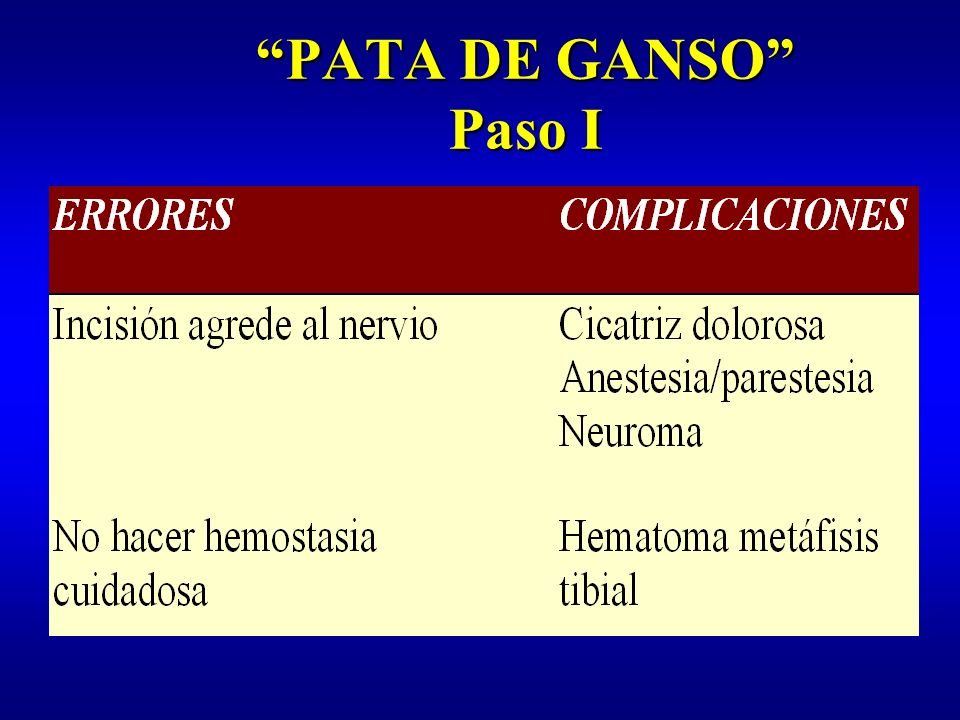 PATA DE GANSO Paso I
