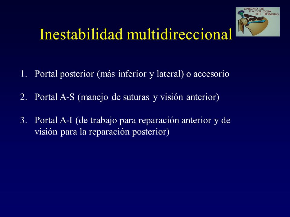 Inestabilidad multidireccional