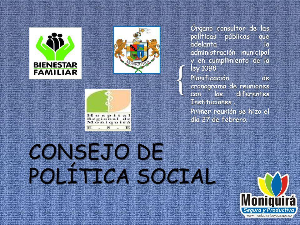 CONSEJO DE POLÍTICA SOCIAL