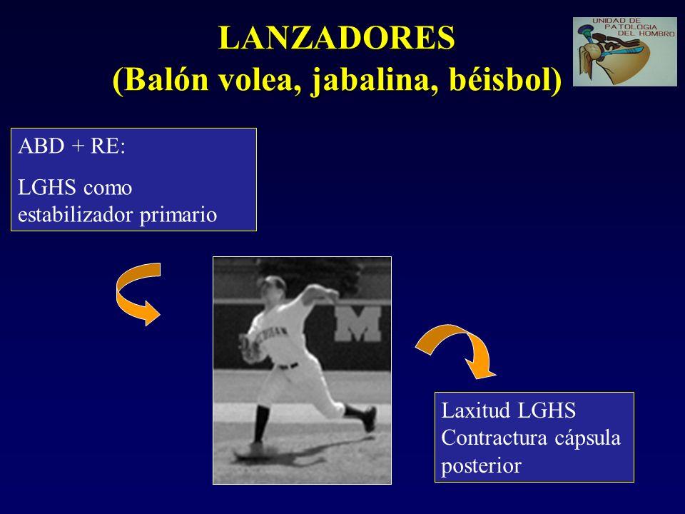 LANZADORES (Balón volea, jabalina, béisbol)