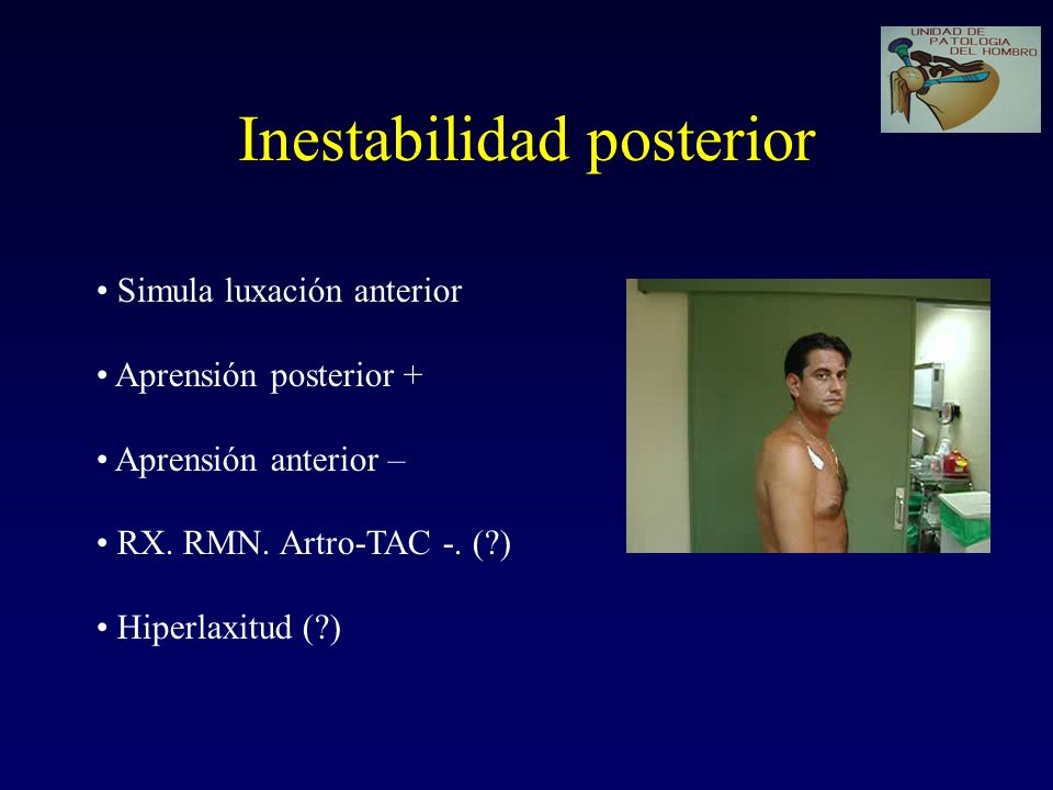 Inestabilidad posterior