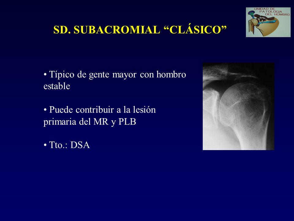 SD. SUBACROMIAL CLÁSICO