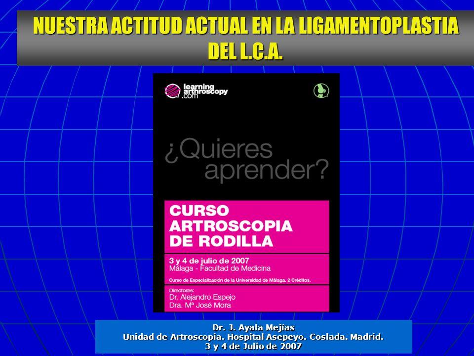 Unidad de Artroscopia. Hospital Asepeyo. Coslada. Madrid.