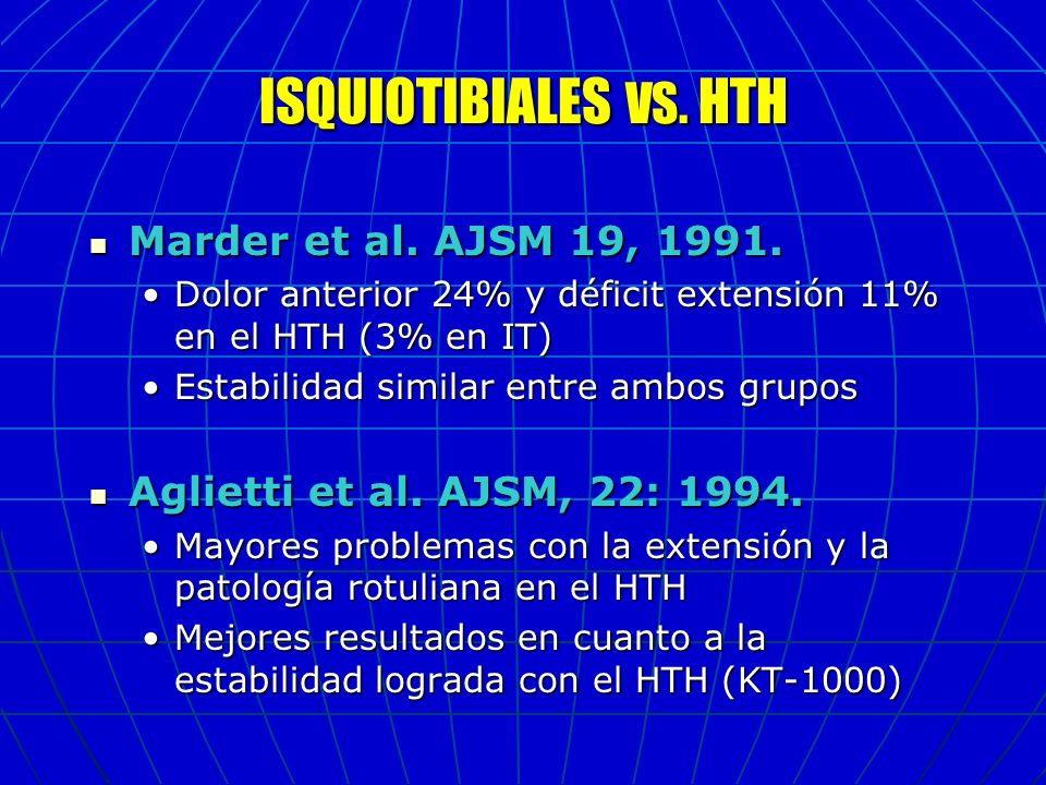 ISQUIOTIBIALES VS. HTH Marder et al. AJSM 19, 1991.