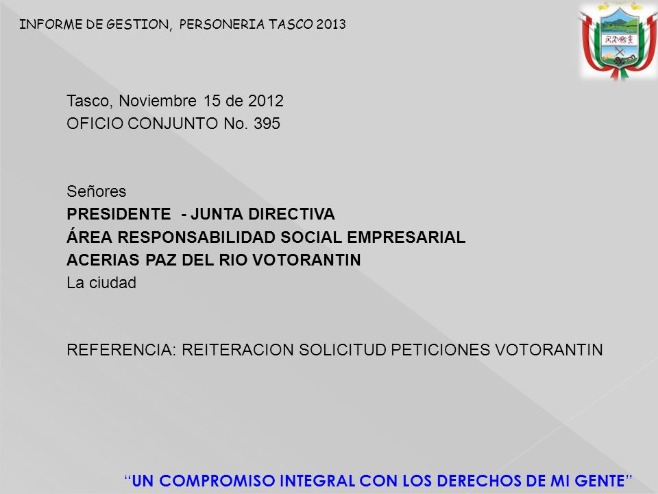 PRESIDENTE - JUNTA DIRECTIVA ÁREA RESPONSABILIDAD SOCIAL EMPRESARIAL