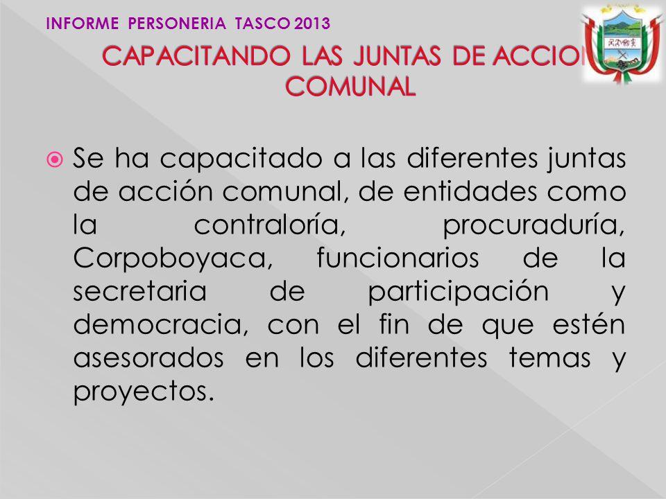 CAPACITANDO LAS JUNTAS DE ACCION COMUNAL