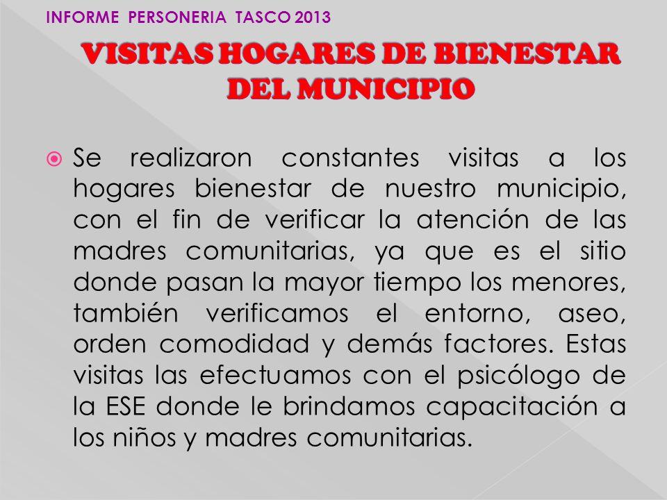 VISITAS HOGARES DE BIENESTAR DEL MUNICIPIO