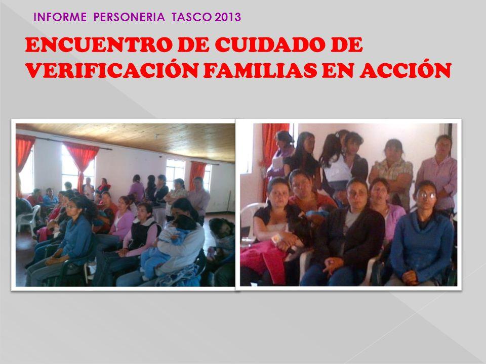 ENCUENTRO DE CUIDADO DE VERIFICACIÓN FAMILIAS EN ACCIÓN