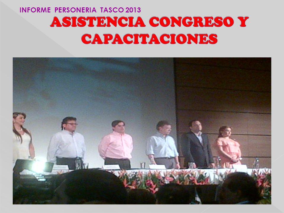 ASISTENCIA CONGRESO Y CAPACITACIONES