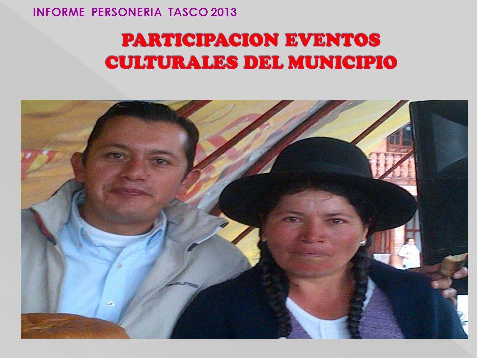 PARTICIPACION EVENTOS CULTURALES DEL MUNICIPIO
