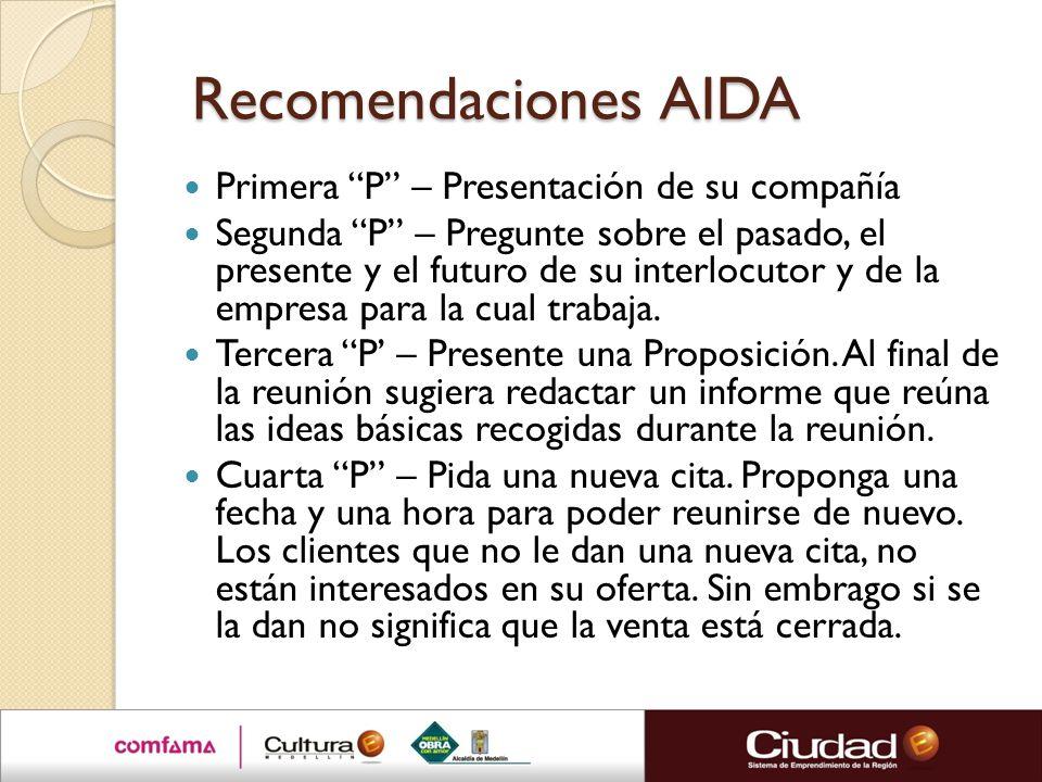 Recomendaciones AIDA Primera P – Presentación de su compañía