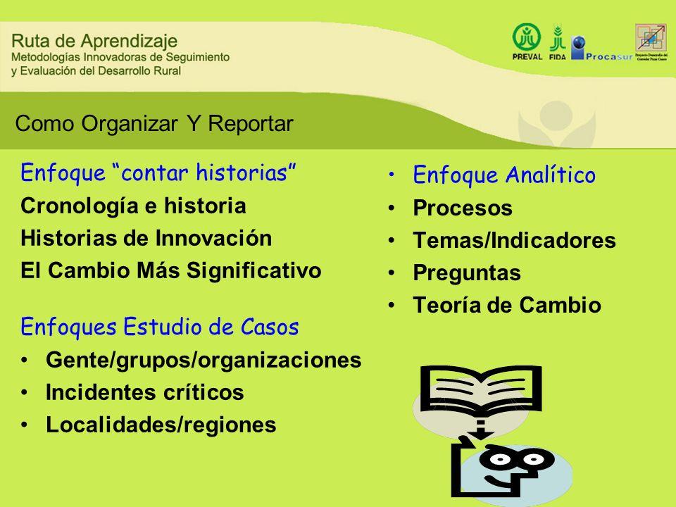 Como Organizar Y Reportar