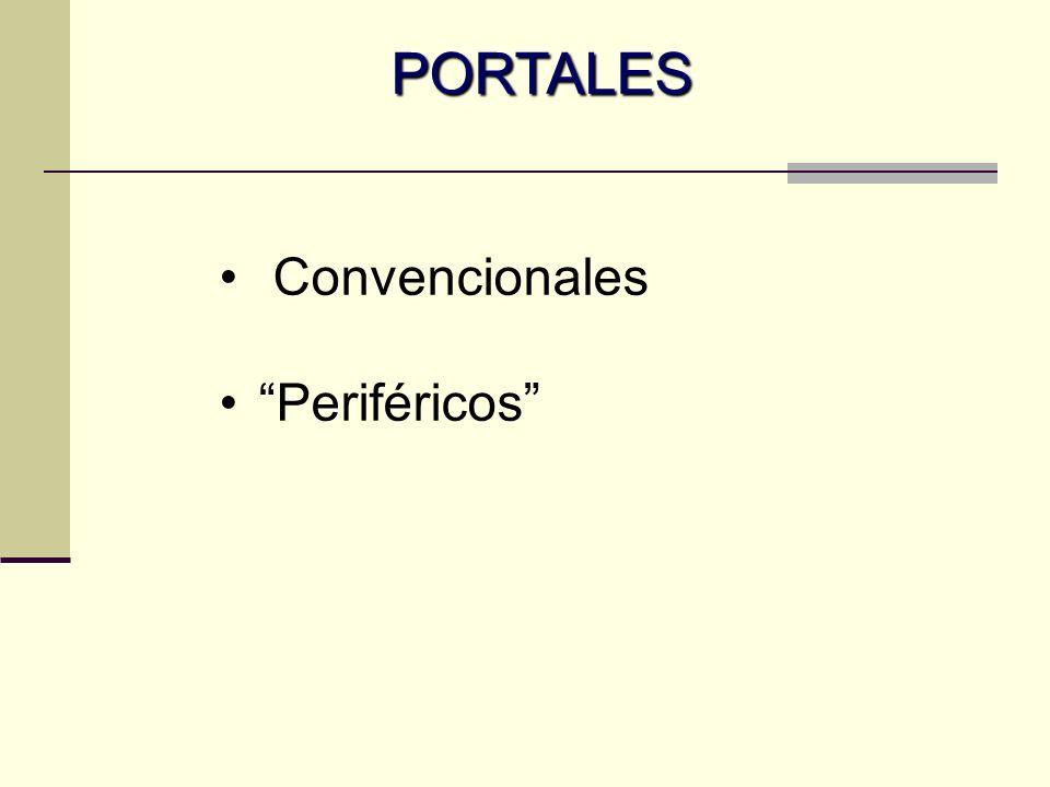 PORTALES Convencionales Periféricos